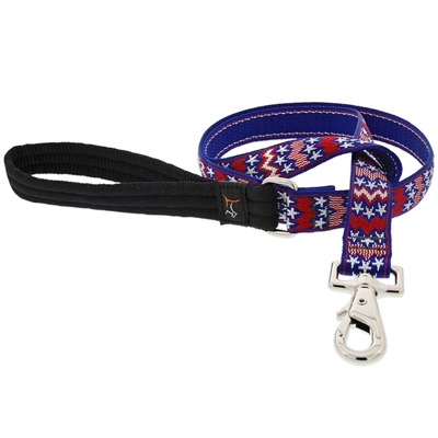 "Lupine 1"" America 6' Long Padded Handle Leash - Large Dog LIMITED EDITION"