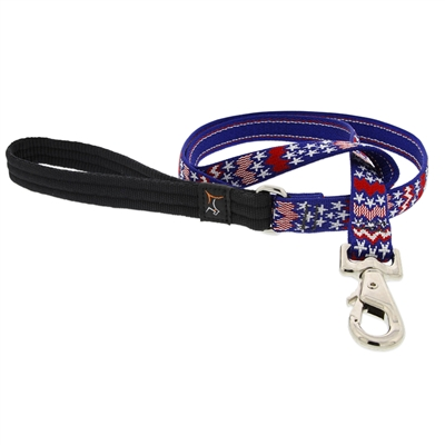 "LupinePet 3/4"" America 6' Padded Handle Leash - Medium Dog MicroBatch"