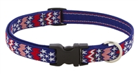 "LupinePet 3/4"" America 9-14"" Adjustable Collar - Medium Dog MicroBatch"