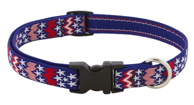 "Lupine 3/4"" America 9-14"" Adjustable Collar - Medium Dog LIMITED EDITION"