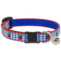 "Lupine 1/2"" Apple Pie Cat Safety Collar with Bell Ships in July 2021"