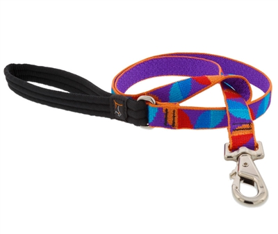 "LupinePet 3/4"" Aurora 6' Padded Handle Leash - Medium Dog MicroBatch"
