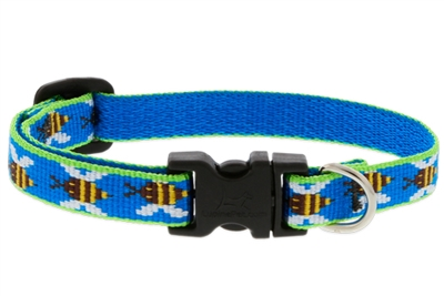 "Lupine 1/2"" Blue Bees 8-12"" Adjustable Collar Ships in April 2021"