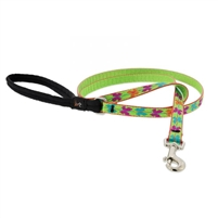 "Lupine 1/2"" Butterfly 4' Padded Handle Leash"