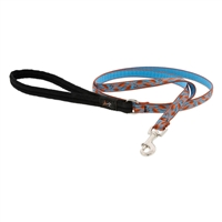 "Retired Lupine 1/2"" Copper Vine 4' Padded Handle Leash"