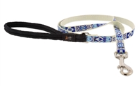 "Retired Lupine 1/2"" Fair Isle 4' Padded Handle Leash"