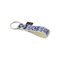 "Retired Lupine 3/4"" Fair Isle Keychain"
