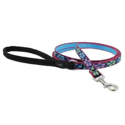 "Lupine 1/2"" Flower Power 6' Padded Handle Leash"