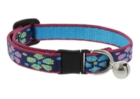 "Lupine 1/2"" Flower Power Cat Safety Collar with Bell"