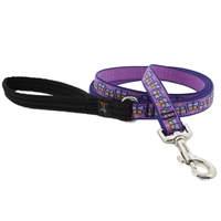 "Lupine 3/4"" Flutterby 4' Padded Handle Leash"