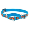 "Lupine Foxy Paws 10-14"" Combo/Martingale Training Collar - Medium Dog LIMITED EDITION"