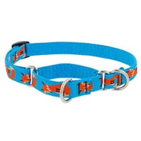 "Lupine Foxy Paws 15-22"" Combo/Martingale Training Collar - Large Dog LIMITED EDITION"