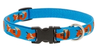 "Lupine Foxy Paws 16-28"" Adjustable Collar - Large Dog LIMITED EDITION"