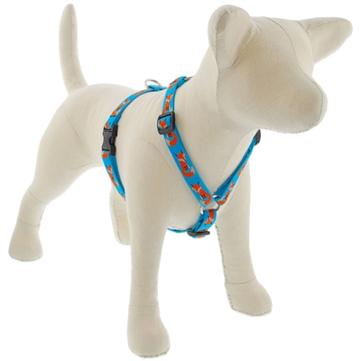 "Lupine 3/4"" Foxy Paws 20-32"" Roman Harness - Medium Dog"