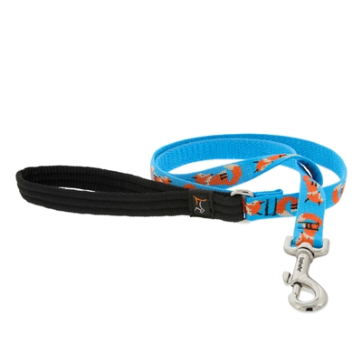 Lupine Foxy Paws 4' Padded Handle Leash - Medium Dog LIMITED EDITION
