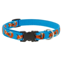 "Lupine Foxy Paws 9-14"" Adjustable Collar - Medium Dog LIMITED EDITION"