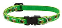 "Retired Lupine 1/2"" Green Bees 8-12"" Adjustable Collar"