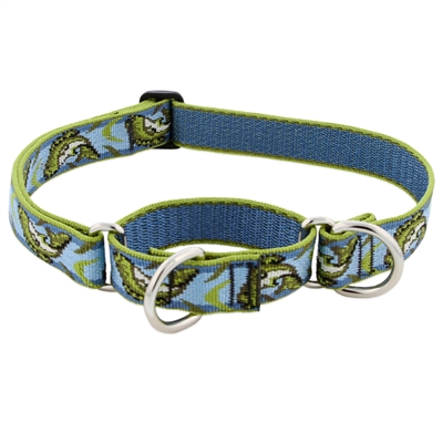 "Retired Lupine 1"" Gone Fishin' 15-22"" Martingale Training Collar - Large Dog"