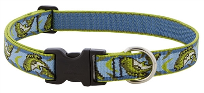 "Retired Lupine 1"" Gone Fishin' 16-28"" Adjustable Collar"