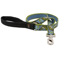 Lupine Gone Fishin' 4' Long Padded Handle Leash - Large Dog LIMITED EDITION
