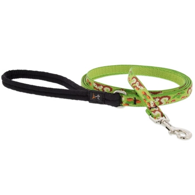 "Lupine 1/2"" Go Nuts 4' Padded Handle Leash Ships in May 2021"