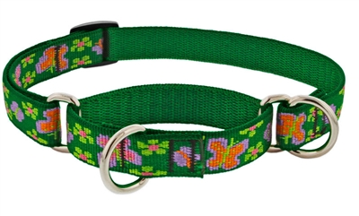 "Retired Lupine 3/4"" Garden Party 10-14"" Martingale Training Collar-  MicroBatch"
