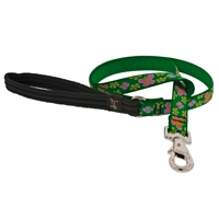 "Lupine 3/4"" Garden Party 4' Padded Handle Leash - Medium Dog LIMITED EDITION"