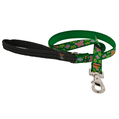 "Retired LupinePet 3/4"" Garden Party 6' Padded Handle Leash - MicroBatch"