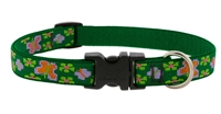 "Retired LupinePet 3/4"" Garden Party 9-14"" Adjustable Collar - MicroBatch"