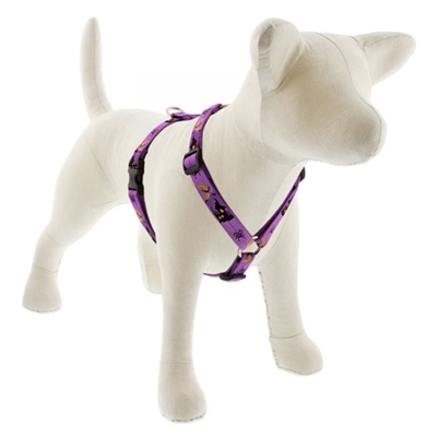 "LupinePet 3/4"" Haunted House 12-20"" Roman Harness - Medium Dog MicroBatch"