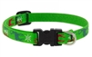 "Lupine 1/2"" Happy Holidays Green 10-16"" Adjustable Collar"