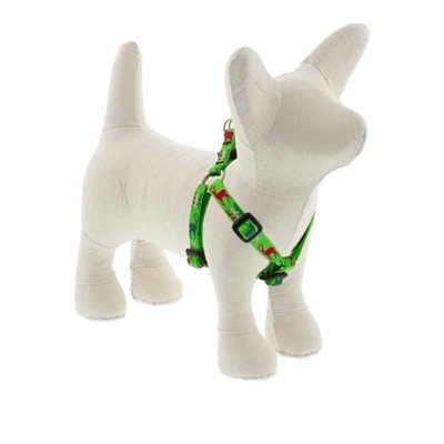 "Lupine 1/2"" Happy Holidays Green 12-18"" Step-in Harness"