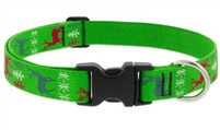"Lupine 1"" Happy Holidays Green 12-20"" Adjustable Collar"