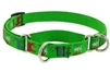 "Lupine 1"" Happy Holidays Green 15-22"" Martingale Training Collar"