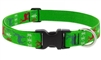 "Lupine 1"" Happy Holidays Green 16-28"" Adjustable Collar"