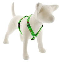 "Lupine 3/4"" Happy Holidays Green 20-32"" Roman Harness"