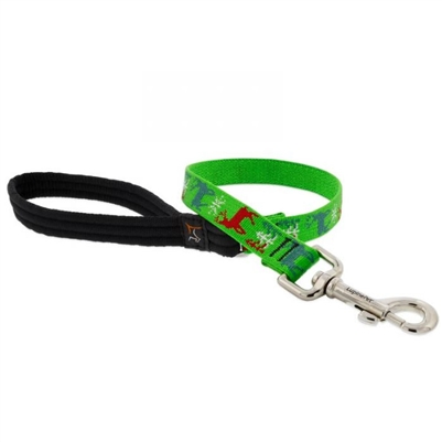 "Lupine 3/4"" Happy Holidays Green 2' Traffic Lead"