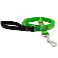 "Lupine 3/4"" Happy Holidays Green 4' Padded Handle Leash"