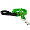 "Lupine 1"" Happy Holidays Green 6' Long Padded Handle Leash"