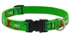 "Lupine 3/4"" Happy Holidays Green 9-14"" Adjustable Collar"
