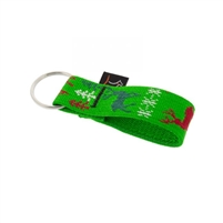 "Lupine 1"" Happy Holidays Green Keychain"