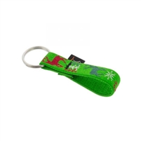 "Lupine 3/4"" Happy Holidays Green Keychain"
