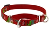 "Lupine 3/4"" Happy Holidays Red 10-14"" Martingale Training Collar"