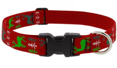 "Lupine 1"" Happy Holidays Red 12-20"" Adjustable Collar"