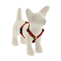"Lupine 1/2"" Happy Holidays Red 12-20"" Roman Harness"