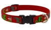 "Lupine 3/4"" Happy Holidays Red 13-22"" Adjustable Collar"