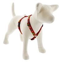 "Lupine 3/4"" Happy Holidays Red 14-24"" Roman Harness"