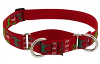 "Lupine 1"" Happy Holidays Red 15-22"" Martingale Training Collar"