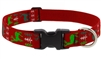 "Lupine 1"" Happy Holidays Red 16-28"" Adjustable Collar"