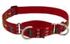 "Lupine 1"" Happy Holidays Red 19-27"" Martingale Training Collar"